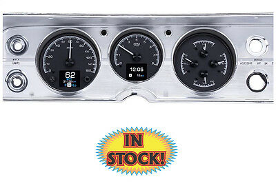 Dakota Digital 1964-65 Chevy Chevelle HDX Gauge Kit - Black Face HDX-64C-CVL-K