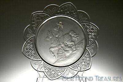 c. 1885 No. 403 CLASSIC WARRIOR Gillinder & Sons FROSTED CRYSTAL Jacobus Plate