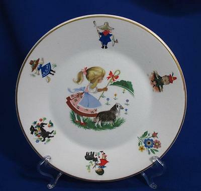 Arklow Irish Porcelain 4 Piece Childs Dish Set Mary Had A Little Lamb Pattern