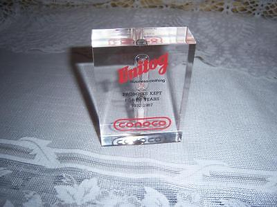 Vintage Unitog Conoco Clear Acrylic Paperweight Timer Advertising Piece 80's GUC