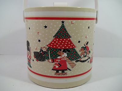 Vintage EPOCH - HOLIDAY JOY Ice Bucket - Tree Nutcrackers Toy Soldier & Toys!