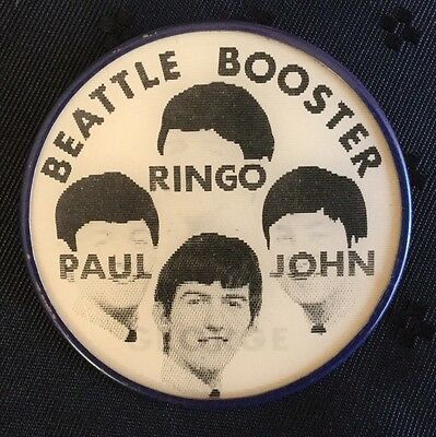 Beatles Beattle Booster Flicker Button Vari Vue Rare Misprint