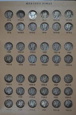 Virtually Complete Set of Mercury Dimes (1916-1945) Lot 425