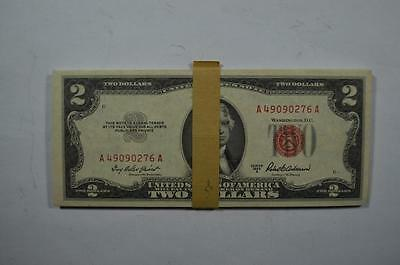 "A ""mini-pack"" of $2.00 Series of 1953-A Legal Tender Notes (Fr-1510) Lot 127"