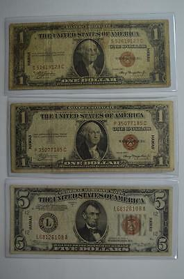 A Trio of HAWAII overprint small size notes Lot 131