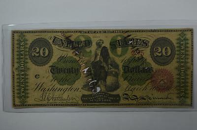 Contemporary Counterfeit Series of 1862 $20.00 Legal Tender Note Lot 120