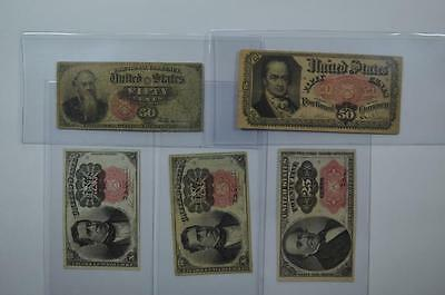 A Worthwhile Later Issue Fractional Currency Quintet Lot 119
