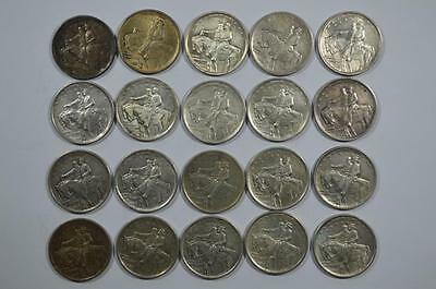 A Mixed Quality Roll of 1925 Stone Mountain Half Dollars Lot 408
