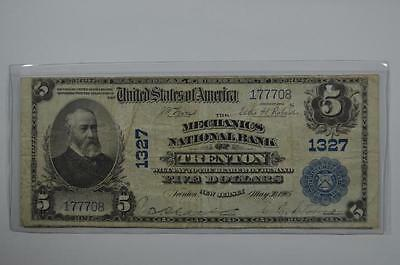 $5.00 National Bank Note. Lot 136