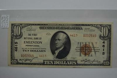 $10.00 National Bank Note. Lot 139