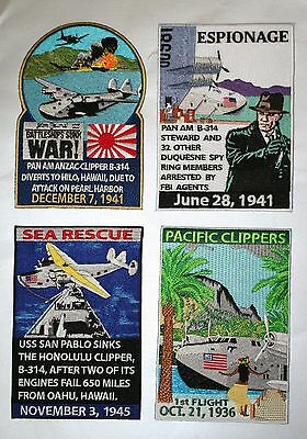 x4 Pan Am Clipper B-314 Patches Series:LARGE GMAN Patches NEW