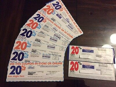 10 BED BATH AND BEYOND COUPONS 20% off single item- Expired variety