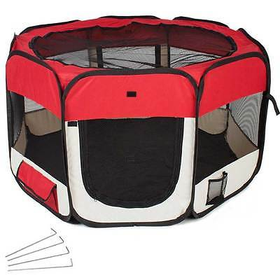 Tenda Box Per Cagnolini Cuccioli Recinto Cuccia Per Piccoli Animali Pop-Up Rossa