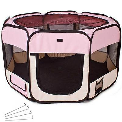 Tenda BOX per Cagnolini Cuccioli Recinto Cuccia per Piccoli Animali Pop-Up Rosa