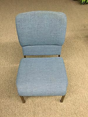 Chairs - Gently Used Stacking church/school/event chairs lot of 250 In Blue
