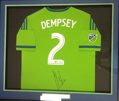 Sounders Clint Dempsey Autographed Signed Framed Adidas Jersey Sz Xl Psa/dna