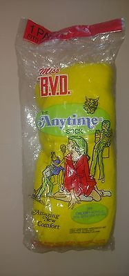 Nos​ 1976 vintage sock Miss bvd the anytime sock 75 % orlon 25%stretch nylon.