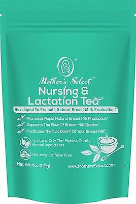 Nursing & Lactation Tea by Mother's Select to Increase Breast Milk Supply, Al...
