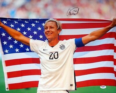 Abby Wambach Authentic Autographed Signed 16X20 Photo Team Usa Psa/dna
