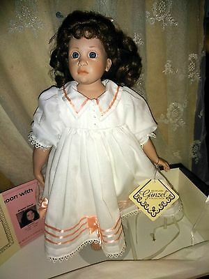 "Hildegard gunzel doll "" ERICA "" signed by H. Gunzel MINT in original box"