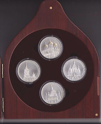 2010 Belarus 4 x 20 Roubles Orthodox Cathedrals Churches Proof Silver Set