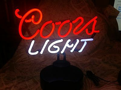 Coors Light Table Top Neon Light New Free Shipping
