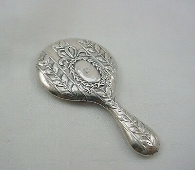 "Miniature Sterling Silver Hand Mirror Hallmarked Germany 1.75"" tall"