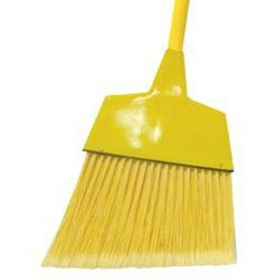 "Commercial-Strength Angle Lobby Broom, Wood Handle, 12"" Head, 5' Handle"