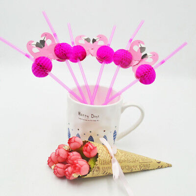 25X Gold Pink STRIPED POLKA DOT Paper Straws Party Birthday Wedding Tableware