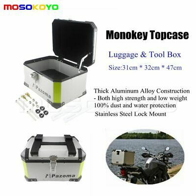 Outback Monokey Motorcycle Motorbike Top Box Rear Case Luggage In AlumInium Hot