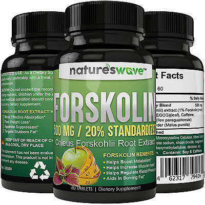 Best Forskolin 100% Pure Extract 500mg Per Tablet Maximum Strength Belly Buster!