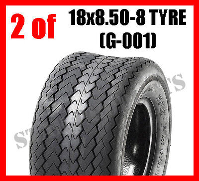 2 OF Golf Cart Buggy Tyre 18x8.5-8 18x8.50-8 6PLY (G-001) Tubeless Ride on mower