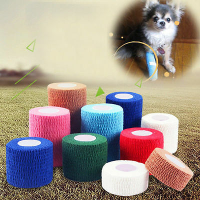 1 Roll Non Woven Horse Dog Vet Wound Cohesive Bandage Self-adhesive Wrap Tape