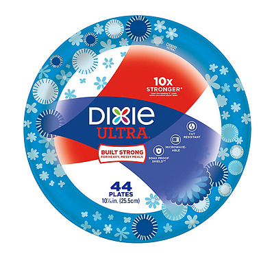 Dixie Ultra Paper Plates, 10 1/16 Inch, 44 Plates