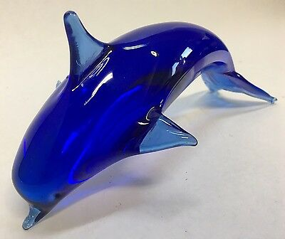 Hand Made Glass Dolphin Vintage