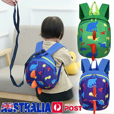 Cute Cartoon Baby Toddler Kids Dinosaur Safety Harness Reins Strap Bag Backpack