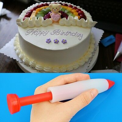 Cake Cookie Pastry Cream Chocolate Decorating Syringe Silicone Pen
