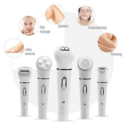 5In1 Electric Female Epilator Facial Hair Remover Shaver Lady Shaving Machine Hs