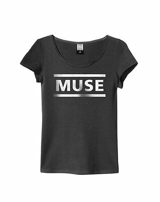 Amplified Muse Logo Women's Charcoal T Shirt