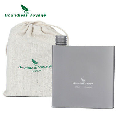 Boundless Voyage  Titanium Hip Flask Camping Wine Bottle Portable Outdoor Flask