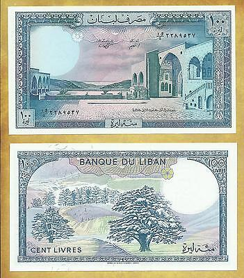 Lebanon 100 Livres Pounds 1988 P-66d Unc Currency Note ***USA SELLER***