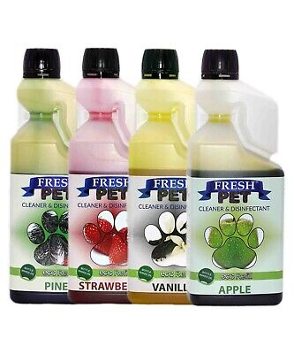 4 X 1L FRESH PET SUPER CONCENTRATE Kennel Cattery Disinfectant - MIX & MATCH