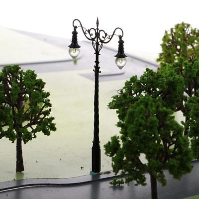 Pack/2pcs Model Railway Train Lamp Post Street Lights S Scale LEDs 1:64 DIY