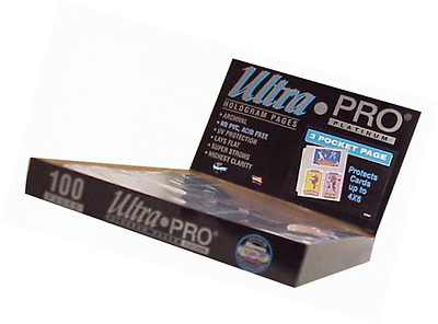 "Ultra Pro 3-Pocket Platinum Page for 4"" X 6"" Photos 100 ct."