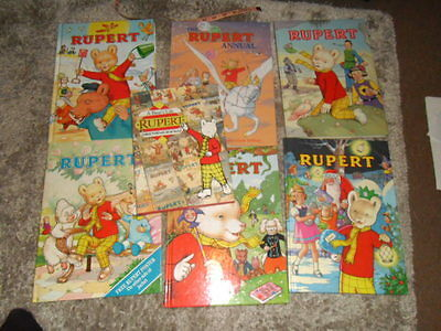 Rupert Bear Annuals x7 joblot