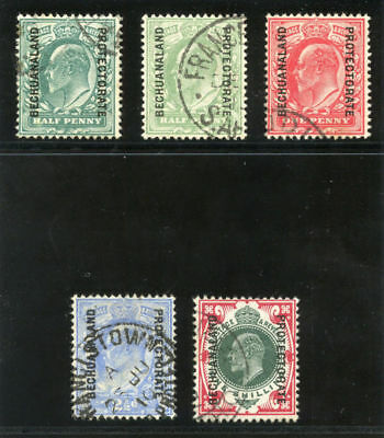 Bechuanaland 1904 KEVII set complete very fine used. SG 66-71. Sc 76-80.