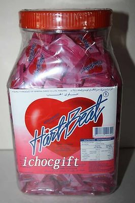 HEARTBEAT STRAWBERRY Flavoured Love Candy 400 pieces 1.28kg tub