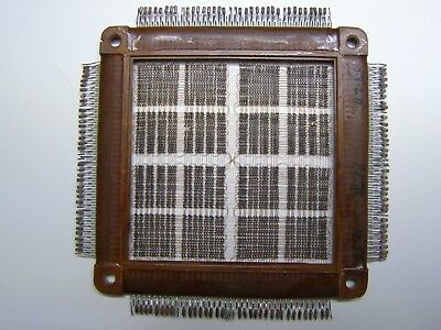 USSR Russian Magnetic Ferrite Core Memory Array + technical documentation DEFECT