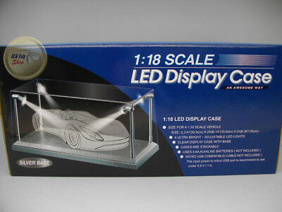 1/18 Show Case Silver Base With Led - 1:18 - T9189922