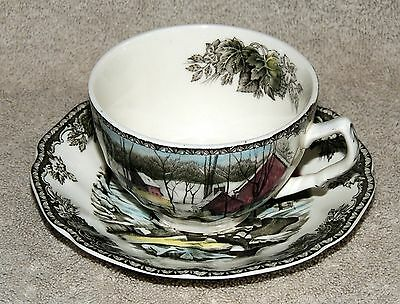 Johnson Bros The Friendly Village Cup And Saucer The Ice House England Perfect